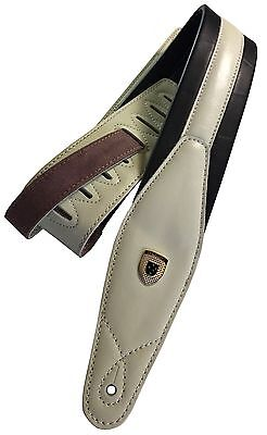 "Genuine Leather Soft Padded  ""Pure Innocence""  Guitar Strap"