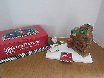 Dept 56 Merry Makers Otto The Ovenman At His Oven Cute Monk Figurine