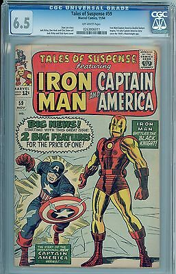 Tales of Suspense 59 - CGC 6.5 Off-White Pages CIVIL WAR! Cap and Iron Man