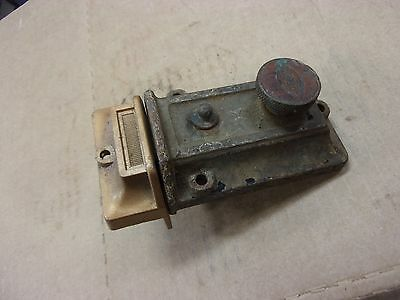 vtg antique Victorian house door Dead Bolt Lock latch corbin old cast iron brass