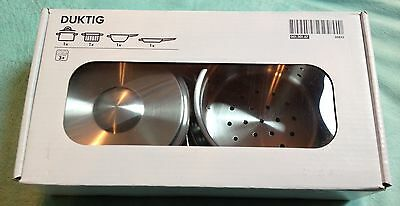 Ikea Duktig children's kitchen pots and pans - stainless steel NEW