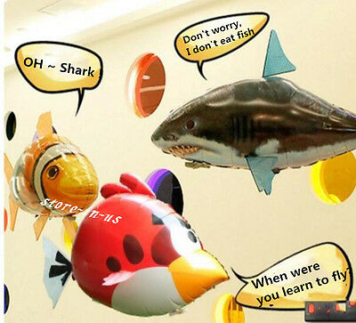 Air Swimmer Remote Control RC Flying Inflatable Fish Shark Bird Blimp Balloon 3C