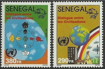 SENEGAL 2002  UN Year Dialogue among Civilizations Dialogo Dialog 2001 MNH
