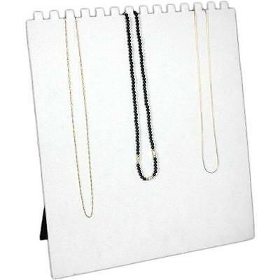 White Flocked Chain & Necklace Display