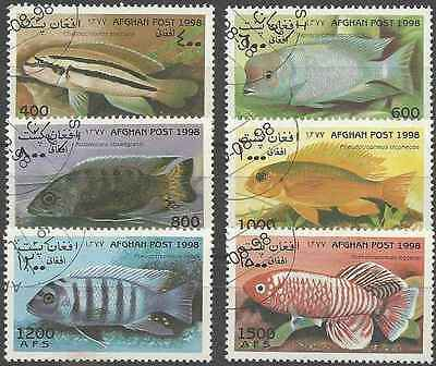 Timbres Poissons Afghanistan 1839/44 o réf. Stampworld lot 1342