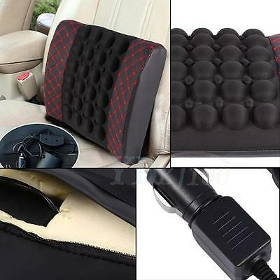 Car Electric Lumbar Seat Back Massage Home Chair Waist Support Soft Cushion