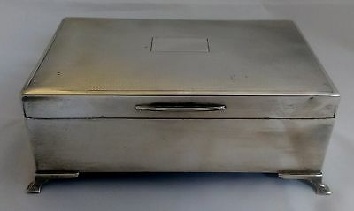 A Stunning Art Deco Solid Silver Table Top Cigarette Box - Birmingham 1936