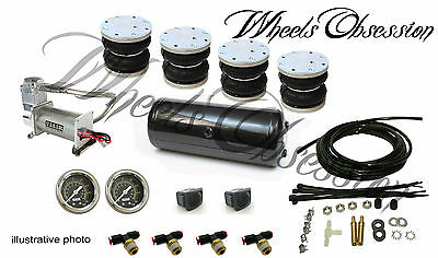 BMW e46 air ride basic kit front rear High quality  VIAIR compressor