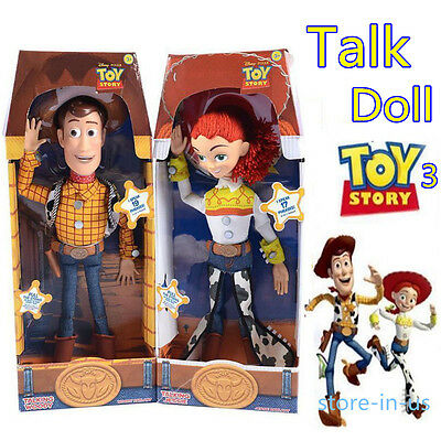"""HOT LATEST Toy Story 3 Pull String WOODY JESSIE 15"""" Talking Action Figure Doll"""