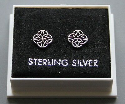 Sterling Silver 925 Stud Earrings  Celtic New Design  Butterfly Backs  St 195