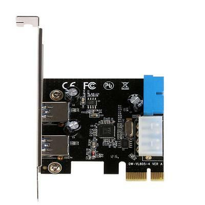 Durable USB 3.0 PCI Express Front Panel With Control Card Adapter 4-Pin & 20 Pin