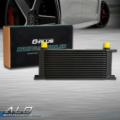 UK 16 Row AN-10 Universal Aluminum Engine Transmission Oil Cooler Kit