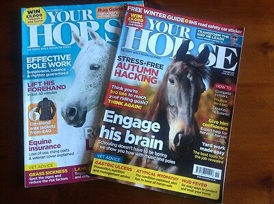 Your Horse Magazines - Sept 2016, Nov 2016 issues