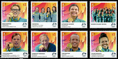 2016 Australian Olympic Gold Medallists - Set of 8 Stamps - MUH