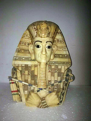 China old  carved Egyptians beast buddha statue huge fengshui Magic