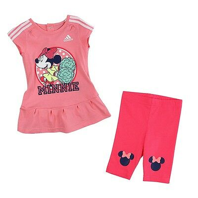 Size 0-3 Months - Adidas Originals Disney Minnie Mouse Dress With Pant Set