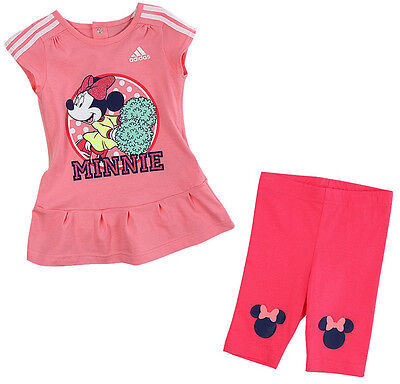 Size 9-12 Months - Adidas Originals Disney Minnie Mouse Dress With Pant Set