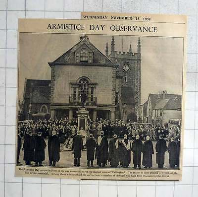 1940 Armistice Day In The Old Market Town Of Wallingford