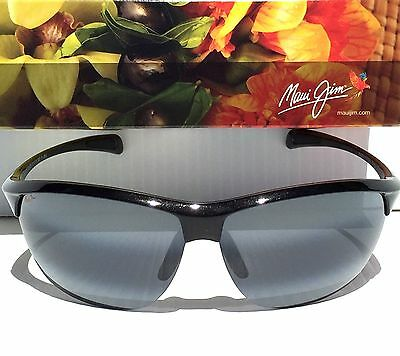 NEW* Maui Jim MIDDLES in BLACK - Maui Gray POLARIZED Women's Sunglass 428-02