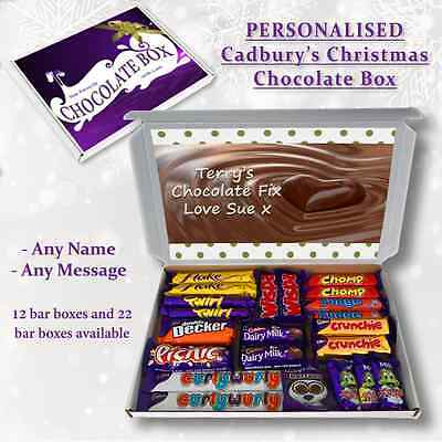 Chocolate Fix Personalised Cadbury Selection Box Gift Hamper Any Occasion