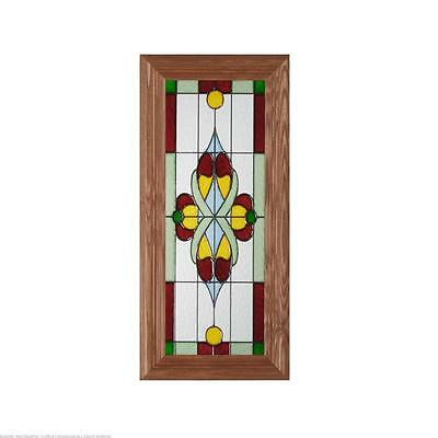 Victorian Green/Burgundy Cathedral Glass Panel G-007