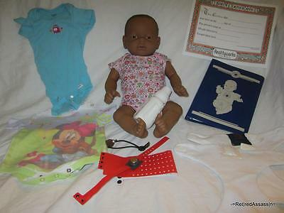 NICE RealCare Baby Think It Over Doll G6 Gen 6 Black African Girl Female Extras