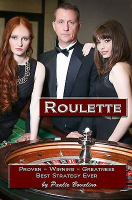 Roulette, Strategy system book by me, Paulie Bovalino, Autographed