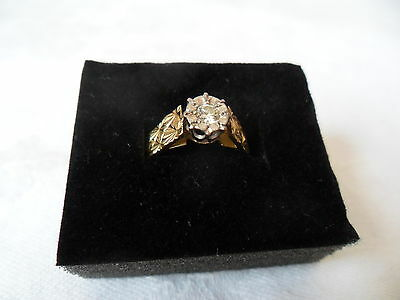 Vintage 1977 Diamond Solitaire Engagement Ring 18 Carat Yellow Gold Size N