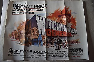Witchfinder General, Original UK Quad Poster, Vincent Price, Brit Horror!, '68