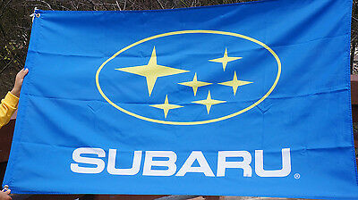 Blue Subaru flag subaru car Flags racing 3X5 banner  - free shipping A+
