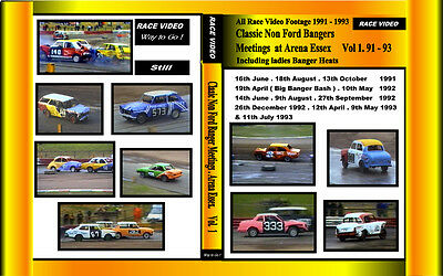 Race Video - Classic Non Ford Banger Racing all 3  Volumes Boxsets for £40.00