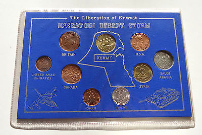 Operation Desert Storm Coin Set Liberation of Kuwait 9 coins
