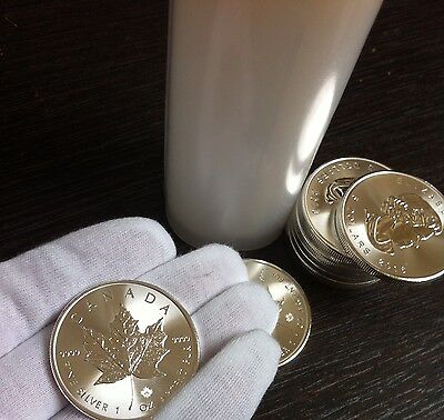 10-Maple Leaf, 2016 1oz Silver Bullion Coins from Monsterbox .9999 fine