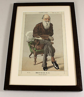 1871 | CHARLES DARWIN | natural selection | vanity fair caricature after TISSOT