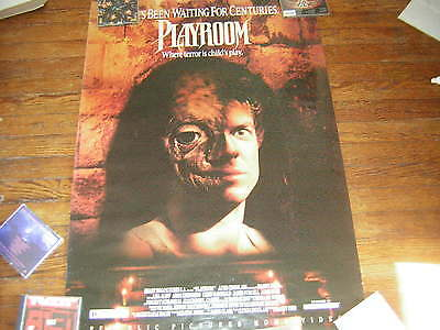 The Playroom Promo Poster 1990 Vhs Horror Vintage