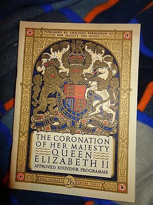 1953 approved  Programme Coronation  Elizabeth  11 QUEEN ROYALTY
