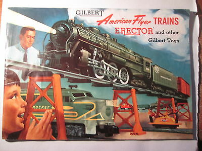 Vintage American Flyer Trains Booklet 1954 Gilbert Toys Catalog