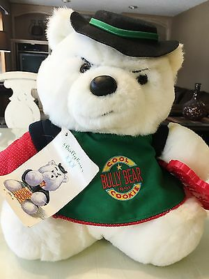 Rare Condition DAYTON HUDSON BULLY SANTA BEAR 1991 w/hang tag cookie cutter