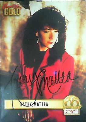 CMA 35th Country Gold Kathy Mattea Autographed Card No.76
