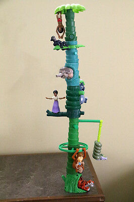 Walt Disney JUNGLE BOOK set of 8 toy figurines Happy Meal MOVING TREE FIGURES