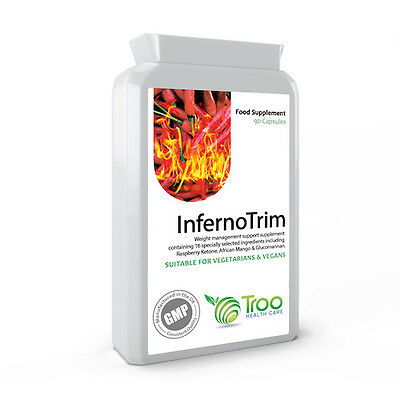 InfernoTrim 90 Capsules Weight Loss Fat Burner - Glucomannan, Ketones and More