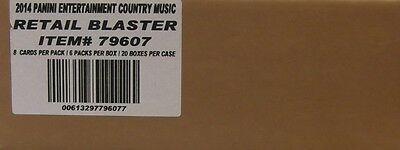 2014 Panini Country Music Trading Cards 6ct Blaster Box 20-Box Case