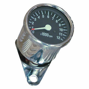 Rev Counter (tachometer) for custom motorcycle, mechanical drive.