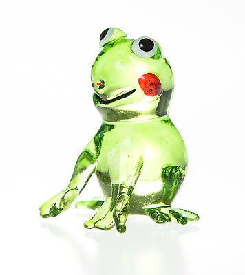 Miniature Blown Glass Blowing Art Frog gifts Animals Decor Collectible Handmade