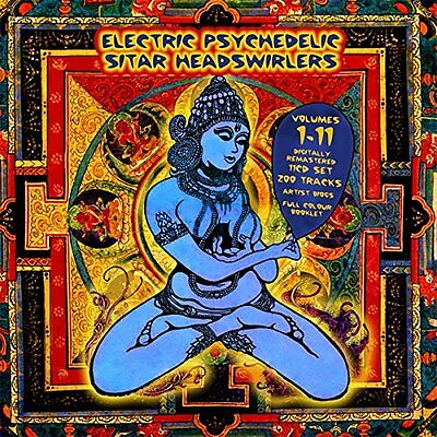 Electric Psychedelic Sitar Headswirlers Volume 1-11 (11 CD BOX SET) Box set new