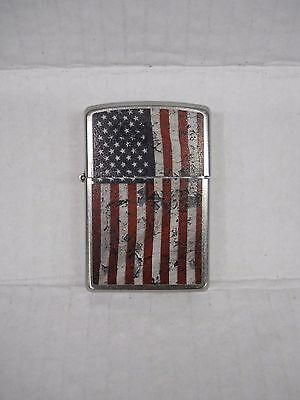 Zippo Old Glory American Flag Lighter Muted Finish Made In Usa