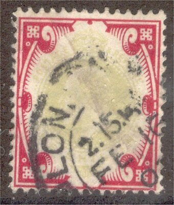 Great Britain sc#138 1902 1sh KE7 used - '12 scv$40.00 - g288