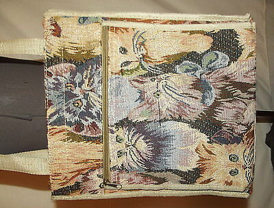 Kitten Cat tapestry tote bag shopping purse Pink cream