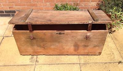 Antique Pine Blanket Box / Chest / Trunk - Good Coffee Table Size