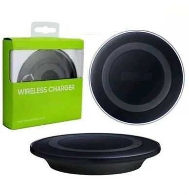 NEW QI WIRELESS CHARGER CHARGING PAD for GALAXY S6 S7 EDGE PLATE BLACK